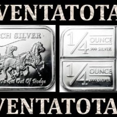 Monedas antiguas de Asia: LINGOTE VINTAGE DE PLATA PESO 37 GRA ( HOMBRES MONTADOS EN DILIGECIA TIRADA POR CABALLOS ) Nº7. Lote 158544494