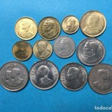 Monedas antiguas de Asia: X-378 )TAILANDIA,,12 MONEDAS TODAS DISTINTAS FECHAS Y TIPOS EN ESTADO NUEVO,,. Lote 159324574