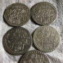 Monedas antiguas de Asia: LOTE DE 5 PIEZAS DE 2 ZLOTA PERIODO ENTRE 1757-1774, TURQUÍA. Lote 160470244