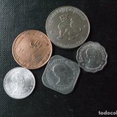 Monedas antiguas de Asia: CONJUNTO DE MONEDAS DE MYAMAR - BIRMANIA DIFICILES. Lote 154093418