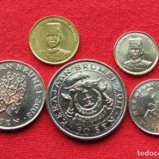 Monnaies anciennes d'Asie: BRUNEI SERIE 1 5 10 20 50 SENE 2008 2010 2011 2013. Lote 205527860