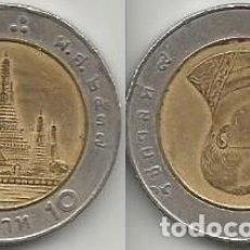 Monedas antiguas de Asia: TAILANDIA 1994 - 10 BAHT - Y227 - CIRCULADA. Lote 161306282