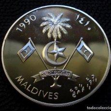 Monedas antiguas de Asia: MALDIVAS 250 RUFIYAA 1990 -JJOO BCN.-92- (4 FOTOS) -PLATA-. Lote 161443082