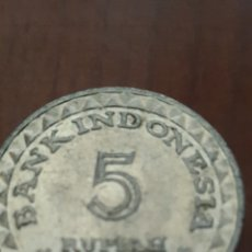 Monedas antiguas de Asia: INDONESIA 5 RUPIAH 1979. Lote 161537836