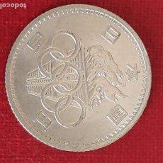 Monedas antiguas de Asia: JAPON 100 YEN 1964 CONMEMORATIVA JUEGOS OLIMPICOS DE TOKIO -PLATA -S/C// KRAUSE #Y-79. Lote 184897385