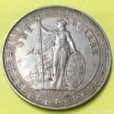 Monnaies anciennes d'Asie: MONEDA DE PLATA DE UN DOLAR CHINO HONG-KONG DE 1912, MONEDA DE COMERCIO INGLESA. Lote 163096386
