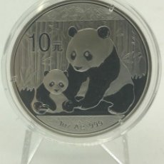 Monedas antiguas de Asia: CHINA 2012 PANDA 10 YUAN 1 ONZA DE PLATA. Lote 163394318