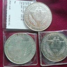 Monedas antiguas de Asia: INDIA. LOTE DE 3 MONEDAS DE PLATA. MÓDULO GRANDE. 50 RUPIAS 1974 Y 1975. Lote 163499556