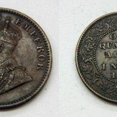 Monedas antiguas de Asia: MONEDA DE INDIA BRITANICA QUARTER ANNA 1935 GEORGE V. Lote 163633082
