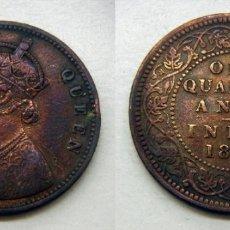 Monedas antiguas de Asia: MONEDA DE INDIA ONE QUARTER DE ANNA DE 1962. Lote 167709808