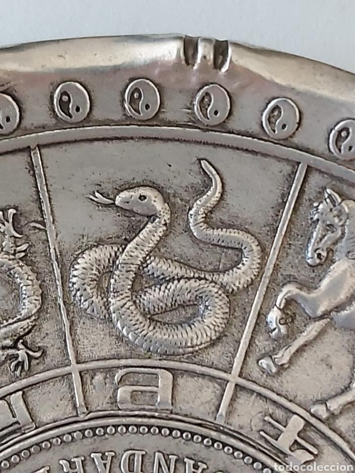 Monedas antiguas de Asia: PRECIOSA PLACA ARTESANAL DE PLATA TIBETANA CON LOS 12 HOROSCOPOS Y SIMBOLOGIA ORIENTAL - Foto 6 - 204426871