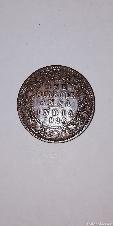 Monedas antiguas de Asia: MONEDA DE INDIA ONE QUARTER DE ANNA DE 1926 - Foto 2 - 168479998