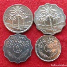 Monedas antiguas de Asia: IRAQ SERIE 5 10 25 50 FILS 1975 1981 1990 IRAK UNC. Lote 169283354