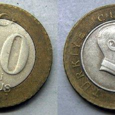 Monedas antiguas de Asia: MONEDA DE TURQUIA 10 KURUS 2005 BIMETALICA. Lote 169424216