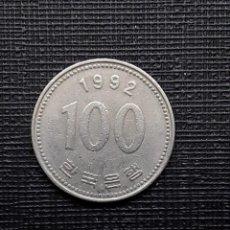 Monedas antiguas de Asia: COREA DEL SUR 100 WON 1992 KM35.2. Lote 169809976