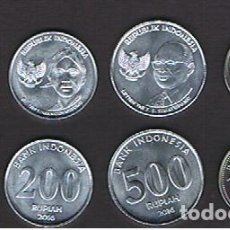 Monedas antiguas de Asia: INDONESIA : 2016 SET. 100-200-500-1000 RUPIAS SC.UNC. KM NUEVO. Lote 194749988