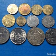 Monedas antiguas de Asia: X-489 )TAILANDIA,,12 MONEDAS TODAS DISTINTAS FECHAS Y TIPOS,, EN ESTADO MUY BUENO. Lote 170401693
