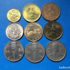 Monedas antiguas de Asia: X-500 )KOREA DEL SUR,,9 MONEDAS TODAS DISTINTAS FECHAS Y TIPOS. Lote 171098585