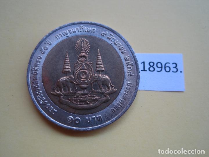 THAILANDIA 10 BAHT 2539 / 1996 , BIMETALICA (Numismática - Extranjeras - Asia)
