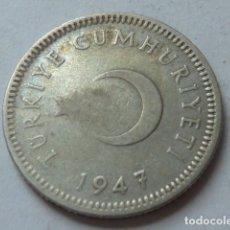 Monedas antiguas de Asia: MONEDA DE PLATA DE 50 KURUS DE 1947 DE TURQUIA. Lote 171988253
