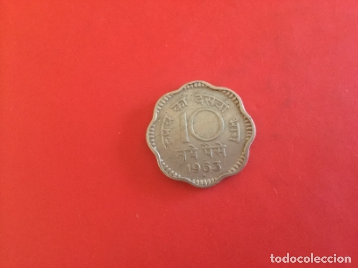 Monedas antiguas de Asia: India 10 Paise 1963 - Foto 2 - 172215152