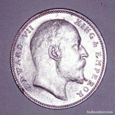 Monedas antiguas de Asia: INDIA BRITÁNICA. 1 RUPIA 1907. PLATA. . Lote 172762395
