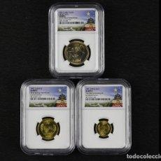 Monedas antiguas de Asia: CHINA 1 YUANES DE 1981/5/1 JIAO NGC MUESTRA JIAO 3PCS. Lote 173098662