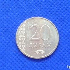 Monedas antiguas de Asia: TAJIKISTAN 20 DIRAM 2015 SC. Lote 295538843