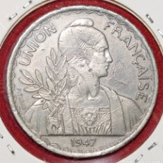 Monedas antiguas de Asia: INDOCHINA FRANCESA 1 PIASTRA 1947. Lote 173885417