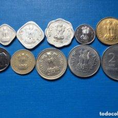 Monedas antiguas de Asia: D-7 )INDIA,,10 MONEDAS TODAS DISTINTAS FECHAS Y TIPOS,, EN MUY BUEN ESTADO,,. Lote 173905569
