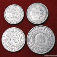 Monedas antiguas de Asia: AZERBAYAN, 4 MONEDAS: 5 MANAT 1993 - 10 MANAT 1992 - 20 MANAT 1992 - 50 MANAT 1993. Lote 173945449