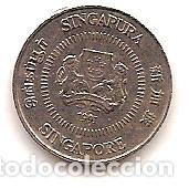 SINGAPUR,10 CENT 1991. (Numismática - Extranjeras - Asia)