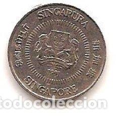 Monedas antiguas de Asia: SINGAPUR,10 CENT 1991.. Lote 173986813