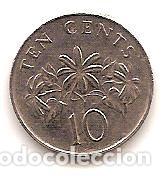 Monedas antiguas de Asia: SINGAPUR,10 CENT 1991. - Foto 2 - 173986813