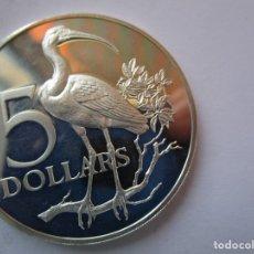 Monedas antiguas de Asia: TRINIDAD Y TOBAGO . 5 DOLARES DE PLATA ANTIGUOS. TOTALMENTE NUEVA.. Lote 174002480