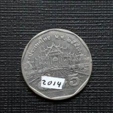 Monedas antiguas de Asia: TAILANDIA 5 BAHTS 2014 Y219. Lote 174034354