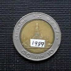 Monedas antiguas de Asia: TAILANDIA 10 BAHTS 1989 Y227. Lote 174034443