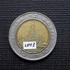 Monedas antiguas de Asia: TAILANDIA 10 BAHTS 2003 Y227. Lote 174034663