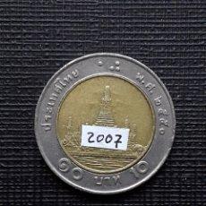Monedas antiguas de Asia: TAILANDIA 10 BAHTS 2007 Y227. Lote 174034844