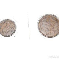 Monedas antiguas de Asia: PALESTINA, 2 MONEDAS: 1 PIASTRA 1927 - 2 PIASTRAS 1942. Lote 174049404