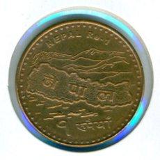 Monedas antiguas de Asia: NEPAL 1 RUPIA VS 2066 - 2009 ( MBC+ ) KM # 1204 - REPÚBLICA. Lote 174470659