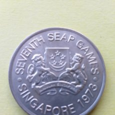 Monedas antiguas de Asia: SINGAPUR 5 DOLÁRES DE PLATA 1973. Lote 175850220