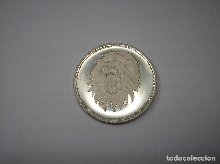 YEMEN, 2 RIYAL DE PLATA DE 1969. CO EL LEÓN (Numismática - Extranjeras - Asia)