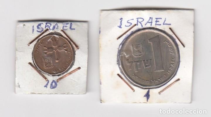 MONEDAS EN COBRE Y DE NÍQUEL ISRAEL VALOR 1 Y 10 (MÁS DATOS POR DEFINIR Y CLASIFICAR) (Numismática - Extranjeras - Asia)