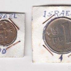 Monedas antiguas de Asia: MONEDAS EN COBRE Y DE NÍQUEL ISRAEL VALOR 1 Y 10 (MÁS DATOS POR DEFINIR Y CLASIFICAR). Lote 176014373