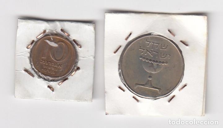 Monedas antiguas de Asia: monedas en cobre y de níquel israel valor 1 y 10 (más datos por definir y clasificar) - Foto 2 - 176014373