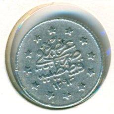 Monedas antiguas de Asia: TURQUÍA 1 KURUSH AH 1293 (28) - 1903 ( MBC+ ) KM # 735 - ABDUL HAMID II - PLATA. Lote 176199470