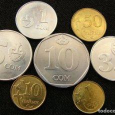 Monete antiche di Asia: KIRGUISTÁN SERIE 1 10 50 TYIYN 1 3 5 10 SOM 2008 2009 KYRGYZSTAN. Lote 197583747