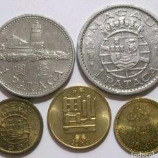 Monedas antiguas de Asia: LOTE 5 MONEDAS MACAO. Lote 176464555