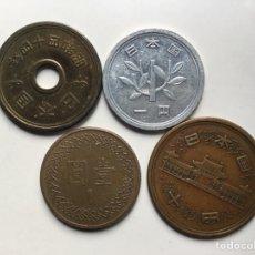 Monedas antiguas de Asia: X-1002 )JAPÓN,,4 MONEDAS TODAS DISTINTAS FECHAS Y TIPOS,,. Lote 177377263